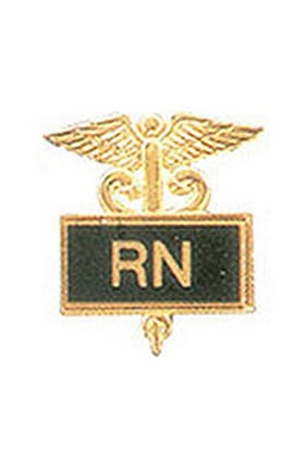 Clearance Arthur Farb RN Gold Plated Inlaid Emblem Pin