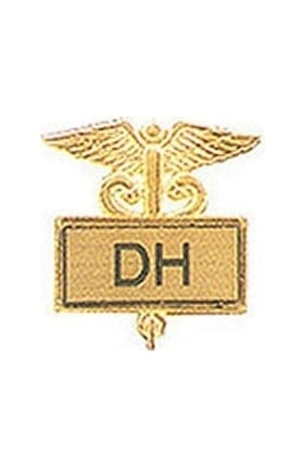 Arthur Farb Dental Hygienist Gold Plated Inlaid Emblem Pin