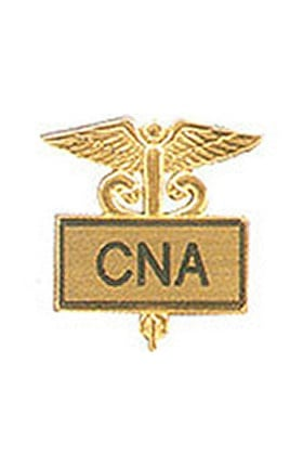 Clearance Arthur Farb CNA Gold Plated Inlaid Emblem Pin