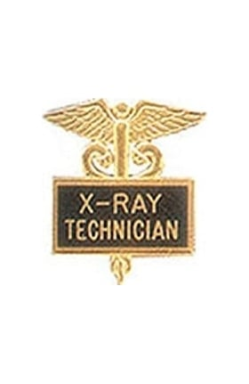 Arthur Farb X-Ray Technician Gold Plated Emblem Pin