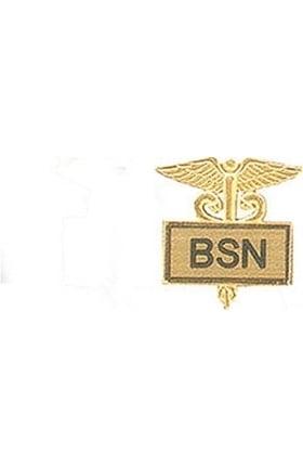 Arthur Farb BSN Gold Plated Inlaid Emblem Pin