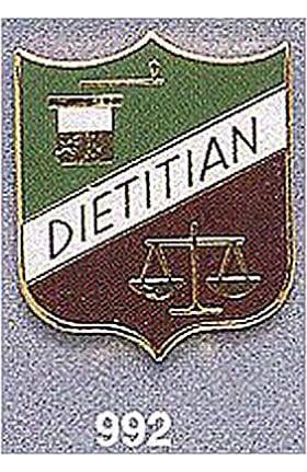 Clearance Arthur Farb Dietitian Pin