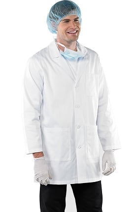 "Clearance Safety Weave™ Antimicrobial by AFS Men's 35"" Lab Coat"