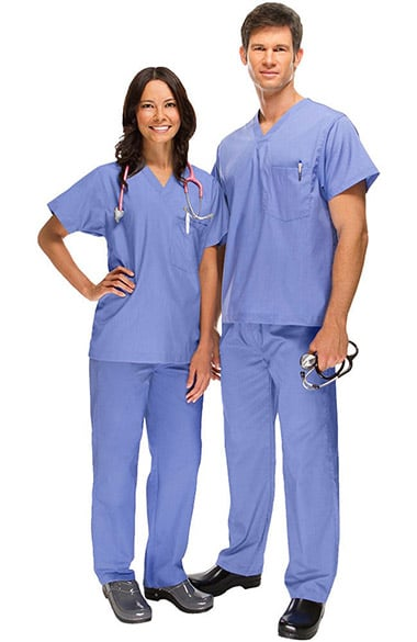 Safety Weave Antimicrobial Stretch Classics by AFS Unisex Scrub Set