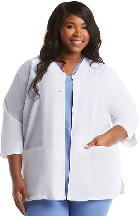 "Basics by allheart Women's ¾ Sleeve 29"" Lab Coat"