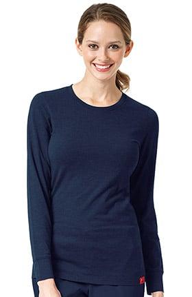 Clearance Ascent by allheart Women's Long Sleeve Knit Underscrub T-Shirt