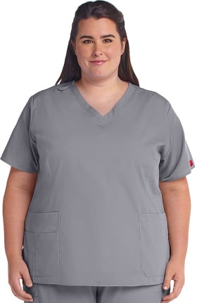 Clearance Ascent by allheart Women's V-Neck Solid Scrub Top