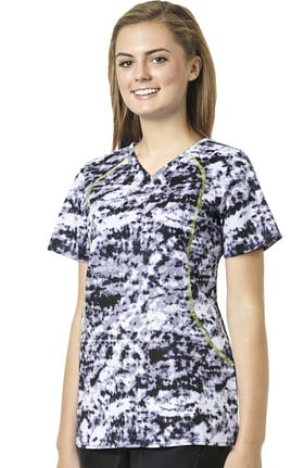 Clearance grace™ exclusively at allheart Women's Sporty V-Neck Abstract Print Scrub Top