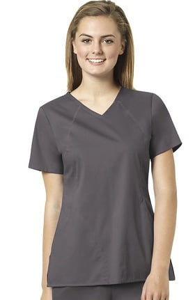 Clearance grace™ Exclusively at allheart Women's Sporty V-Neck Solid Scrub Top
