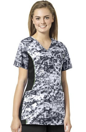 Clearance grace™ exclusively at allheart Women's Solid Side Panel Mock Wrap Scrub Top