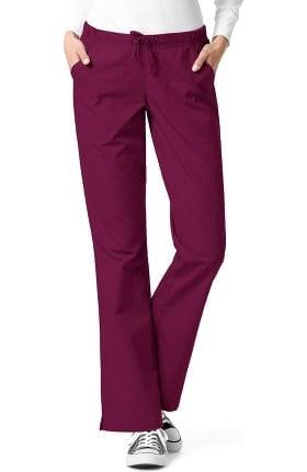 Clearance Ascent by allheart Women's Flare Leg Drawstring Scrub Pant