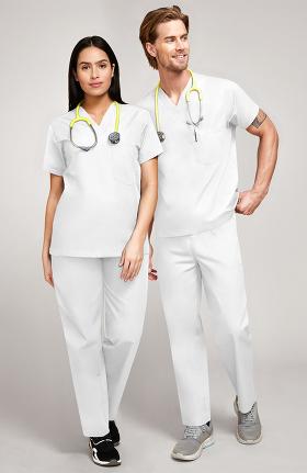 3337b10a5fa White Scrubs - Men's Nursing Pants, Tops & Medical Clothing | allheart