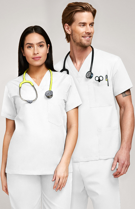 d49ec636b43 Women's White Scrubs, Lab Coats, Tops & Nursing Scrub Pants