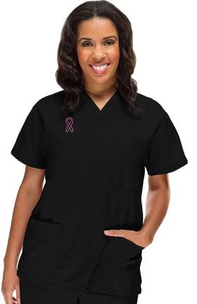 Basics by allheart Women's 3 Pocket Top W/Bca Emblem