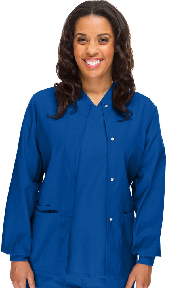 Womenu0027s Solid Scrub Jacket