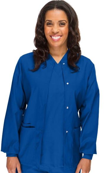 Basics By Allheart Women S Solid Scrub Jacket Allheart Com