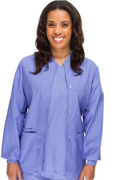 Basics by allheart Women's Solid Scrub Jacket