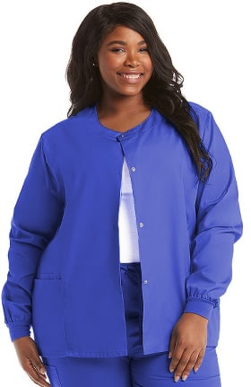 Basics by allheart Women's Solid Scrub Jacket
