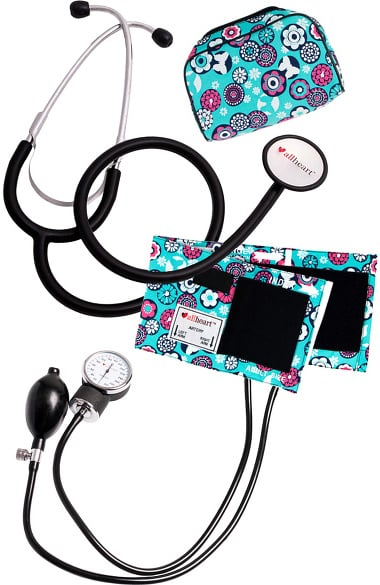 allheart Blood Pressure Aneroid and Dual Head Stethoscope Combination Set - Nurse Combo Kit