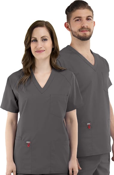 elate by allheart Unisex V-Neck Solid Scrub Top