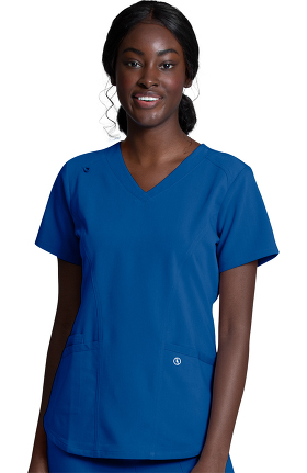 Luxe Supreme by allheart Women's V-Neck Solid Scrub Top
