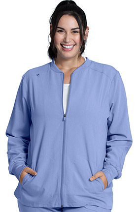 Luxe Supreme by allheart Women's Warm-Up Solid Scrub Jacket