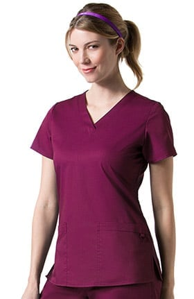 C3 by allheart Women's COOLMAX® Basic V-Neck Solid Scrub Top