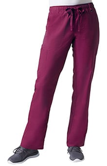 C3 by allheart Women's COOLMAX® Elastic Drawstring Waist Cargo Scrub Pant