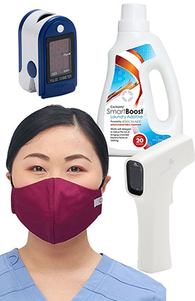 allheart Home Healthcare Essentials Kit - Certainty Mask Pack, SmartBoost, Infrared Thermometer & Pulse Oximeter