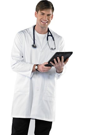 """Clearance Avenue Scrubs Men's Antimicrobial 38"""" Lab Coat"""