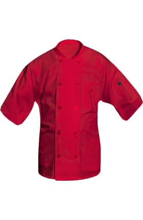 Clearance Allstar Unisex 10 Button Short Sleeve Poplin Chef Coat