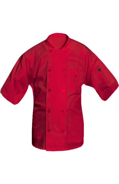 Clearance Allstar Unisex 10 Button Short Sleeve Poplin Chef Coat