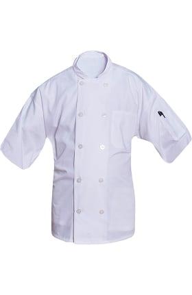 Clearance Short Sleeve Poplin Chef Coat Mesh Back