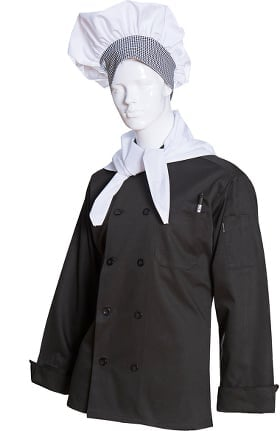Clearance Long Sleeve Poplin Chef Coat Mesh Back