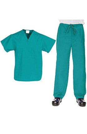 Allstar Uniforms Unisex V-Neck Top & Drawstring Pant Scrub Set