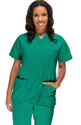 Clearance Allstar Uniforms Women's V-Neck 3 Pocket Scrub Top