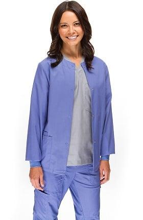 Clearance Allstar Uniforms Women's Round Neck Scrub Jacket