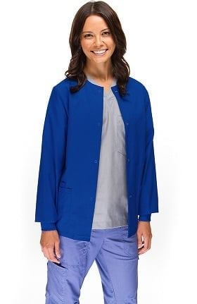Clearance Allstar Uniforms Women's Round Neck Scrub Jacket