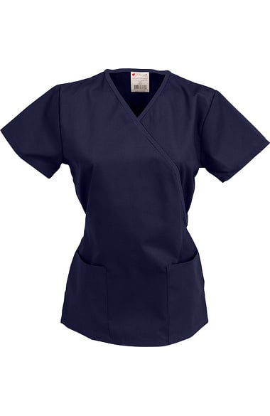 Allstar Uniforms Women's Mock Wrap Solid Scrub Top