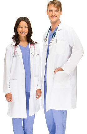 "Allstar Uniforms Unisex 41"" Lab Coat"