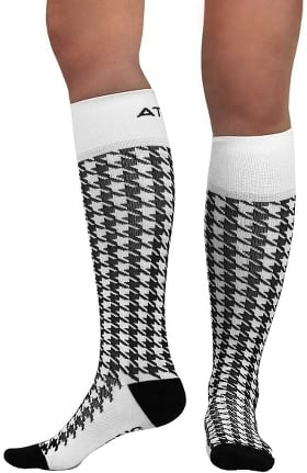 About the Nurse Women's Knee High 20-30 mmHg Houndstooth Print Compression Sock