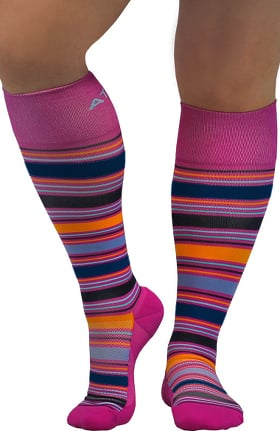 About the Nurse Women's Knee High 20-30 mmhg Shine Print Compression Sock