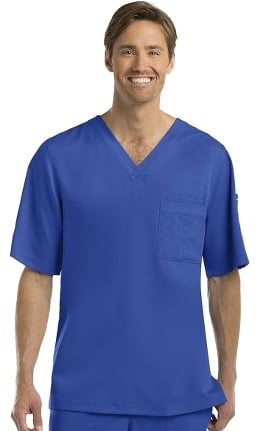 Grey's Anatomy Classic Men's 3-Pocket V-Neck Solid Scrub Top
