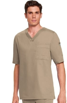 Clearance Grey's Anatomy Classic Men's 3-Pocket V-Neck Solid Scrub Top