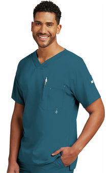 Grey's Anatomy Classic Men's V-Neck Solid Scrub Top