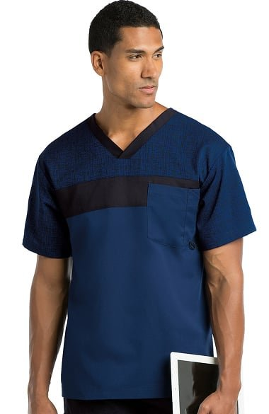 Active by Grey's Anatomy Men's V-Neck Solid Scrub Top