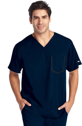 iMPACT by Grey's Anatomy Men's Ascend V-Neck Solid Scrub Top