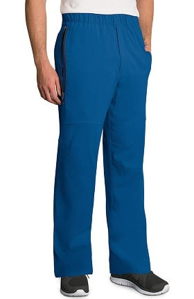 Clearance KD110 Men's Jake Drawstring Zip Front Scrub Pant