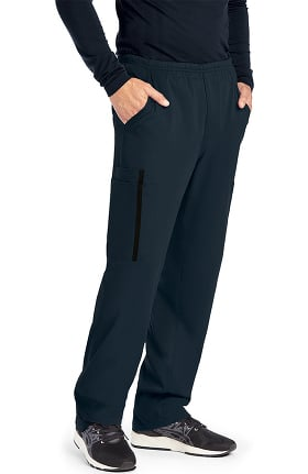 iMPACT by Grey's Anatomy Men's Zip Fly Double Cargo Scrub Pant