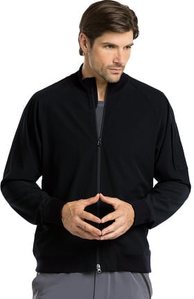 Barco One™ Men's Zip Front Bomber Solid Scrub Jacket